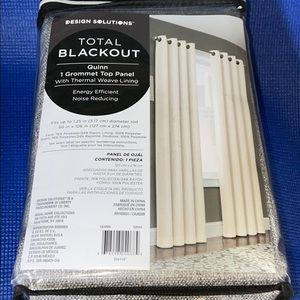 Design Solutions Total Blackout Single Curtain New
